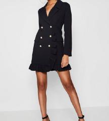 crna mantil haljina