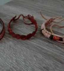 Kožne i pletene narukvice na vezanje