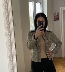 Zara sako u zlatnoj i crnoj boji