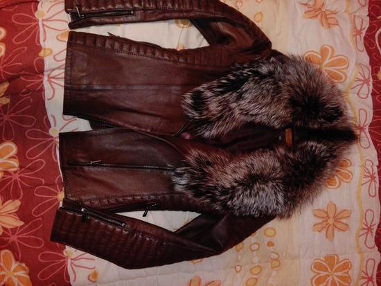 Kozna jakna braon