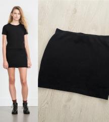Zara crna mini suknja nenoseno