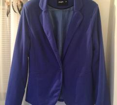Plavi pamučni sako