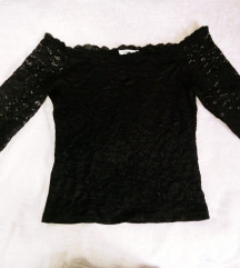 Terranova cipkana crna majica L
