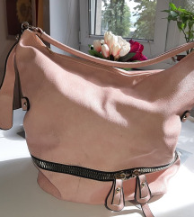 Puder roze torba