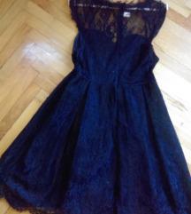 Crna cipkana haljinica