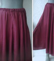 suknja svilena pun krug broj 44 do 46