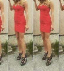 Crvena korset haljina