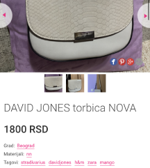 David jones torbica snizena