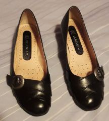 VA BENE kozne crne cipele kao nove