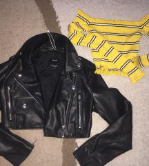 Crop bajkerska jaknica XS Bershka