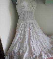 Coco Chic bela sa vezom haljina M