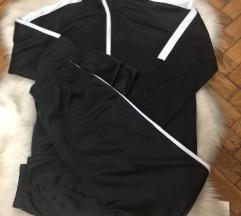Komplet trenerka crno bela