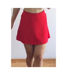 Crvena suknjica Stradivarius