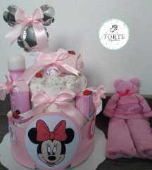 Torta od pelena Minnie Mouse