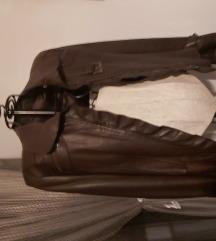 Mona, braon kozna jakna #snizenje