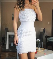 Bela haljina sa karnerima