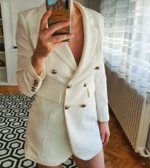 Beli sako haljina
