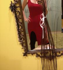 Crvena sexy haljina uska S
