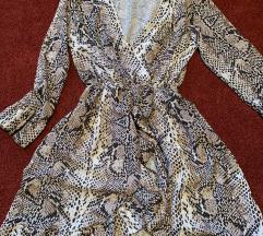 like Zara nude snake print haljina