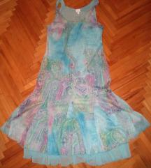 Plava, lepršava haljina