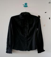 Crna košulja na štrafte - ateksova