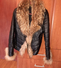 Kožna jakna sa pravim krznom