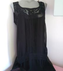 Crna dvoslojna haljina 40