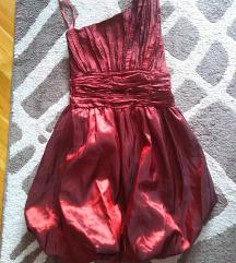 Savrsena efektna haljina xs (s ) rubin crvena