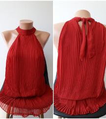 *SALE* Amisu crvena plisirana majica