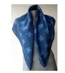 marama svilena modro plava 86x86 cm
