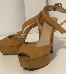 ZARA oker sandale - broj 38