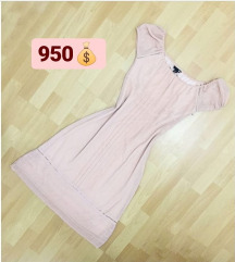 H&M puder roza haljina