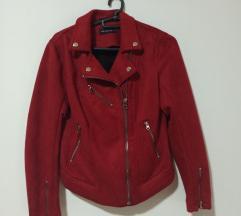 Nova crvena kožna jakna