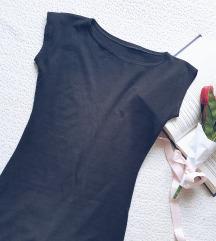 Crna pamična haljina