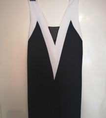*SALE* ZARA laserski sečena crno bela haljina