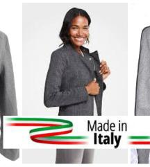 kraci sivi kaput iz Italije vel M