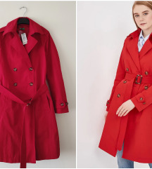 BENETTON crveni trench Coat NOVO