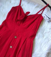Crvena haljina sa dugmicima NOVA sa et.