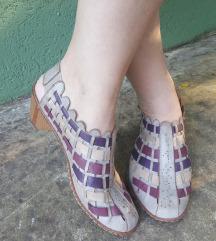RIEKER sive violet kozne sandalete- espadrile