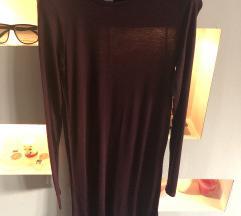 H&M NOVA tanka bordo haljina XS - S