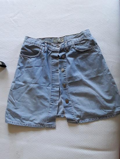 Teksas suknja sa dugmicima