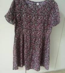 H&M cvetna, lagana, pamučna haljinica