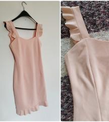 RASPRODAJA!Puder roza haljina sa karnerima, xs/s