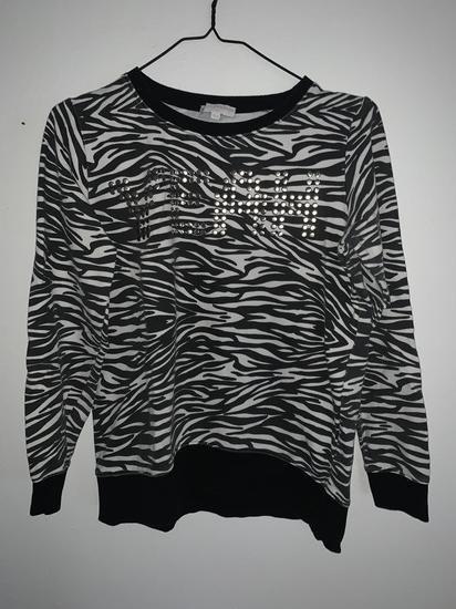 Animal print dukserica zebrasta