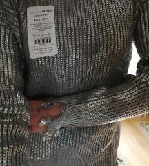 Nov metalik voskiran džemper