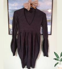 Siva haljina dug rukav