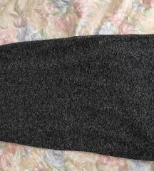 Crno siva dugačka suknja