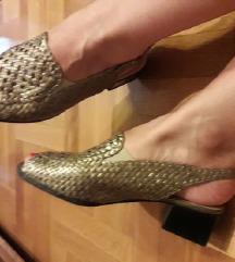 ARA zlatne kozne pletene sandale 24cm NOVE