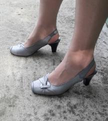 Minozzi Milano kozne sive sandale NOVE