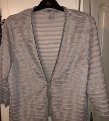Srebrna jaknica H&M